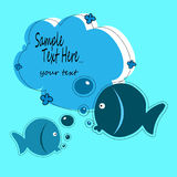 Fish illustration baby  animal cartoon cute sea. Water Stock Photos