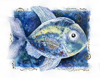 Fish Illustration Royalty Free Stock Photography
