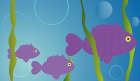 Fish illustration. Vector illustration of a fishes Stock Image