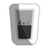Fish inside dirty water glass. Icon. Pollution environment and ecology  theme. Isolated design. Vector illustration Stock Photography