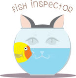 Fish Inspector Royalty Free Stock Image