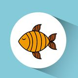 Fish isolated design. Illustration eps10 graphic Royalty Free Stock Images