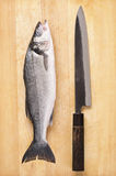 Fish with Japanese Knife Royalty Free Stock Images