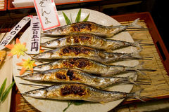 Fish in a Japanese Market Royalty Free Stock Photos