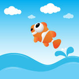 Fish jumping out of the water. A fish jumping out of the water Stock Photo