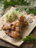 Fish kebab Royalty Free Stock Photos