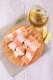 Fish kebab Royalty Free Stock Image