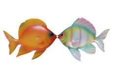 Fish Kiss Stock Photography