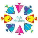 Fish kitchen. Idea for a restaurant with fish kitchen Royalty Free Stock Photo