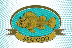Fish label. This is file of EPS10 format Stock Photo
