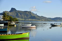 Fish landing station in Mahebourg, Mauritius Royalty Free Stock Photography