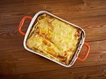 Fish lasagna Stock Photo
