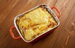 Fish lasagna Royalty Free Stock Photos