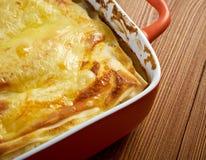 Fish lasagna Stock Photography
