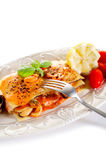 Fish lasagne Royalty Free Stock Images