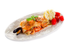 Fish lasagne Royalty Free Stock Photos