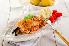 Fish lasagne Royalty Free Stock Image