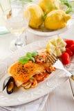 Fish lasagne Stock Photos