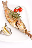 Fish with lemon Royalty Free Stock Image