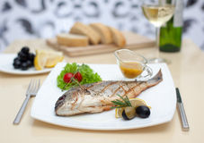 Fish with lemon Stock Image