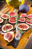 Fish with lemon and figs, Mediterranean cuisine Stock Photos