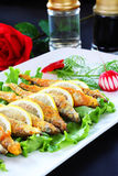 Fish and lemon slices Royalty Free Stock Photography