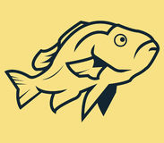Fish Line Art. Vector line art illustration of fish Stock Images