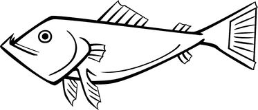 Fish. Line drawing of an imaginary fish Stock Image