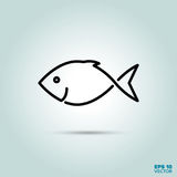 Fish line icon. Fresh fish Line Icon Vector Stock Images