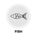 Fish Line Icon. Fish Icon Vector. Fish Icon Flat. Fish Icon Image. Fish Icon Object Royalty Free Stock Photos