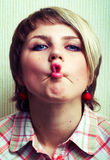 Fish lips. Stock Photography