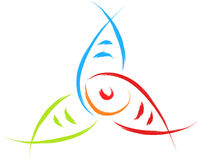 Fish logo. Abstract fish logo in colors symbol religion Royalty Free Stock Image
