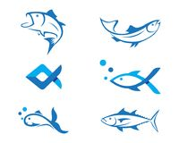 Fish logo template. Creative  symbol of fishing club or online Stock Photography