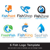 Fish Logo Template Design Vector Royalty Free Stock Image