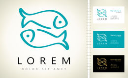 Fish logo vector Stock Photo