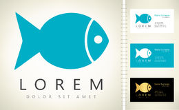 Fish logo vector Stock Image