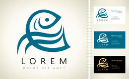 Fish logo vector Royalty Free Stock Photos