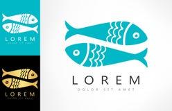 Fish logo vector. Logo design vector illustration Stock Image