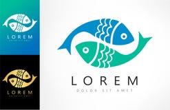 Fish logo vector. Logo design vector illustration Royalty Free Stock Images