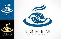 Fish logo vector. Logo design vector illustration Stock Photos