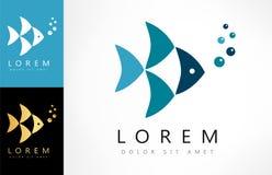 Fish logo vector. Logo design vector illustration Royalty Free Stock Image