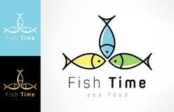 Fish logo vector. Logo design vector illustration Stock Photo