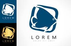 Fish logo vector. Logo design vector illustration Royalty Free Stock Photos