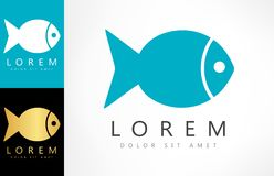 Fish logo vector. Logo design vector illustration Royalty Free Stock Photography