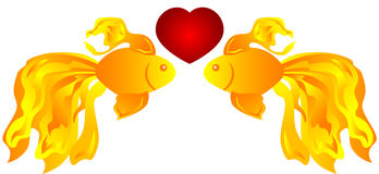 Fish in love Royalty Free Stock Images