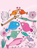 Fish Love Royalty Free Stock Photos