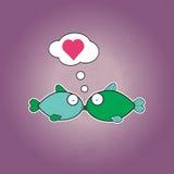Fish Love. Vector Illustration Royalty Free Stock Photos