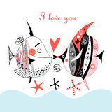 Fish lovers Royalty Free Stock Image