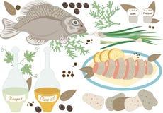 Fish lunch.Illustration. Stock Photo