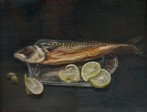 The fish - mackerel Royalty Free Stock Photos
